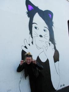 Kitten streetart